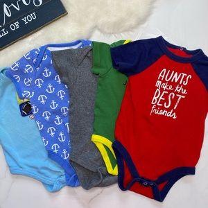 🎉Bundle baby boy bodysuits B7-18